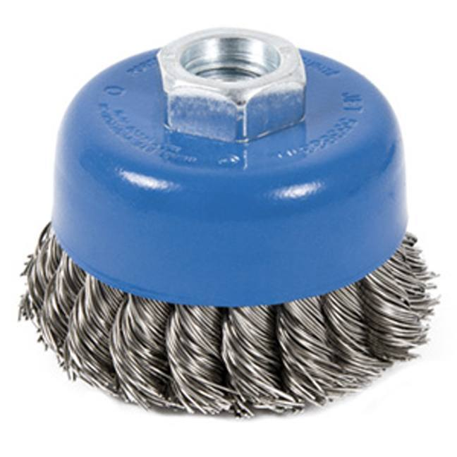 Jet 553683 3 x 5/8-11 NC Stainless Knot Twisted Cup Brush