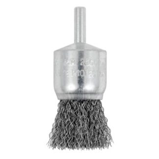 "Jet 553716 1 x 1/4"" Shaft Mounted Crimped End Brush"