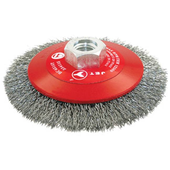 Jet 554126 6 x 5/8-11NC Crimped Conical (Bevel) Brush