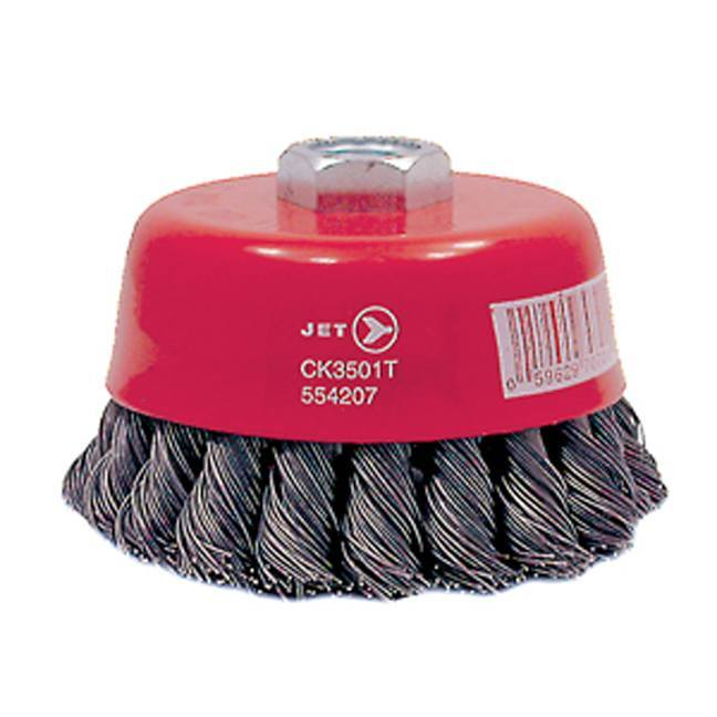 Jet 554207 3-1/2 x 5/8-11NC Knot Twisted Cup Brush