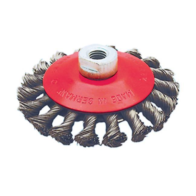 Jet 554309 4-1/2 x 5/8-11 NC Knot Twisted Conical Brush