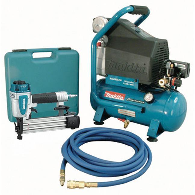 Makita MAC700-KIT3 2.0HP Air Compressor & Brad Nailer Kit