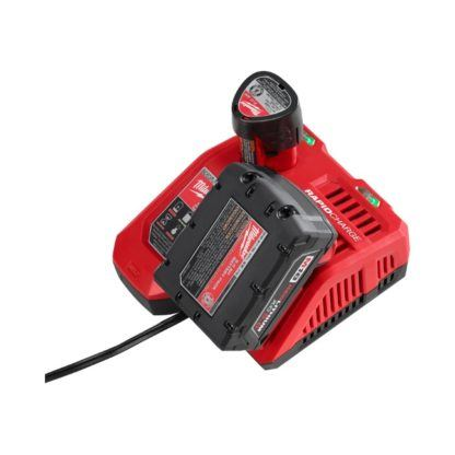 Milwaukee 48-59-1808 M18 & M12 Rapid Charger In Use 1