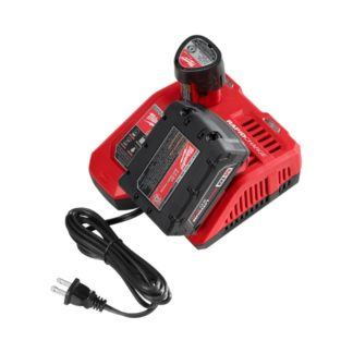 Milwaukee 48-59-1808 M18 & M12 Rapid Charger In Use 2
