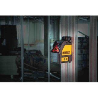 DeWalt DW088K Cross Line Laser In Use