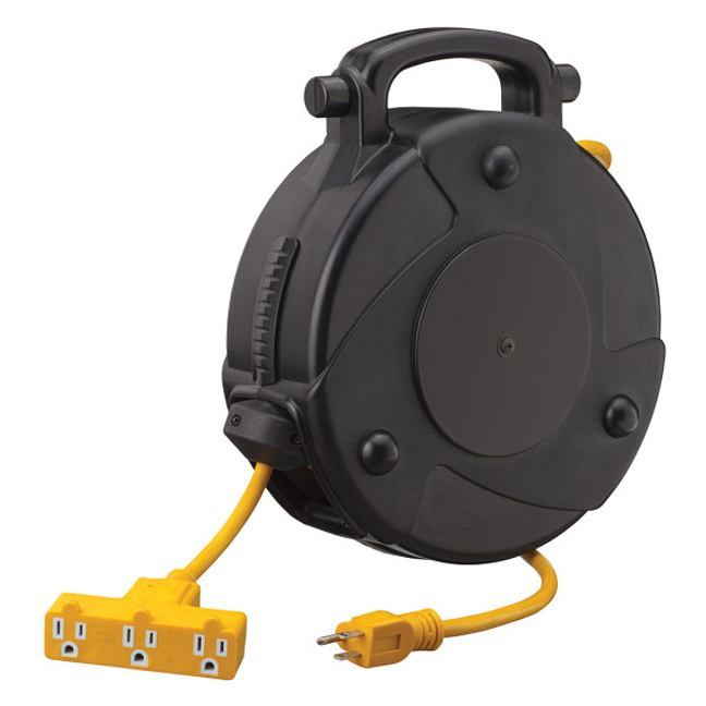 retractable extension cord startech 849877 40 foot abs retractable extension cord reel 13023