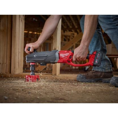 Milwaukee 2711-20 M18 FUEL SUPER HAWG Right Angle Drill In Use 2