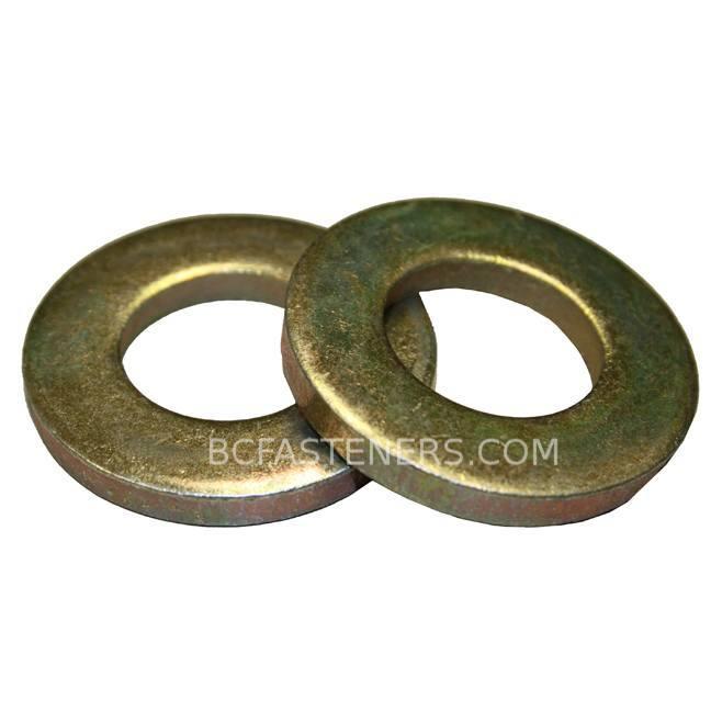 Flat Washer Yellow Zinc - Extra Thick