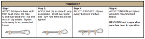 wire rope clip instructions