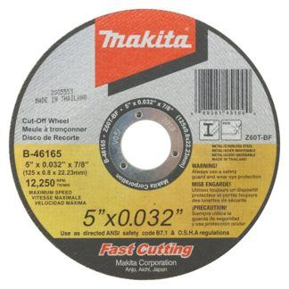 "Makita A-96447-25 5"" Ultra-Thin Kerf Cut Off Wheels - 25 Pack"