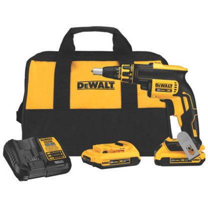 DeWalt DCF620D2 20V MAX XR Brushless Drywall Screwgun Kit