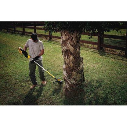 DeWalt DCST920P1 20V MAX XR Brushless String Trimmer Kit In Use 1