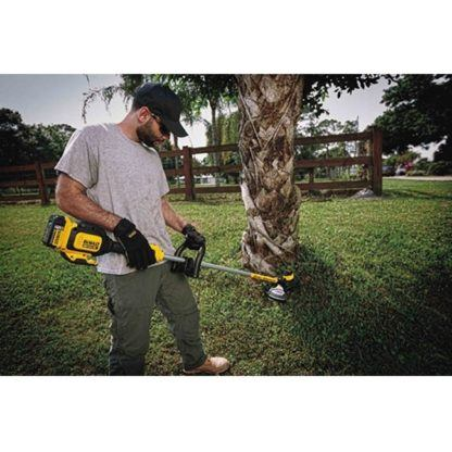 DeWalt DCST920P1 20V MAX XR Brushless String Trimmer Kit In Use 2