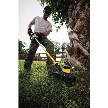 DeWalt DCST920P1 20V MAX XR Brushless String Trimmer Kit In Use 3
