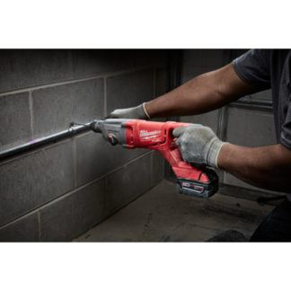 Milwaukee 2713-20 M18 FUEL D-Handle Rotary Hammer In Use 1
