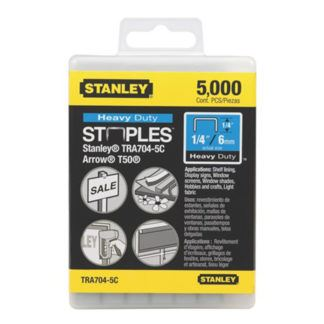 "Stanley TR704-5C 5,000 pc 1/4"" Heavy Duty Staples"