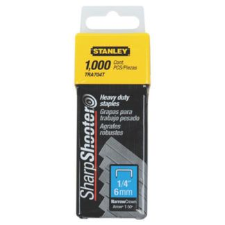 "Stanley TR704T 1,000 pc 1/4"" Heavy Duty Staples"