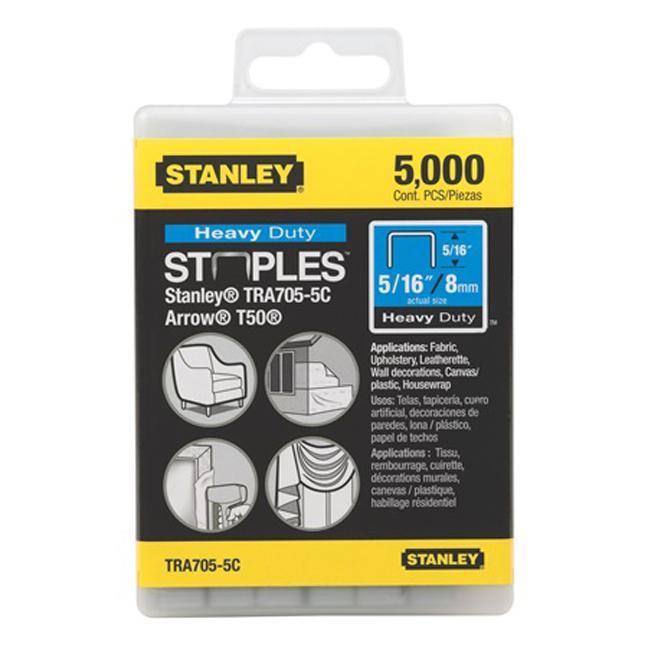 """Stanley TR705-5C 5,000 pc 5/16"""" Heavy Duty Staples"""