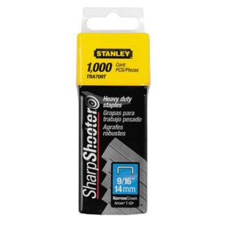 "Stanley TR709T 1,000 pc 9/16"" Heavy Duty Staples"