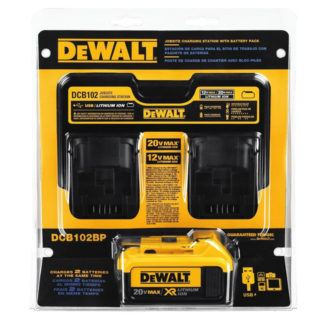 DeWalt DCB102BP 20V Max Jobsite Charging Station with Battery Pack