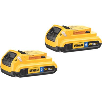 DeWalt DCB203BT-2 20V MAX Compact Battery with Bluetooth 2-Pack