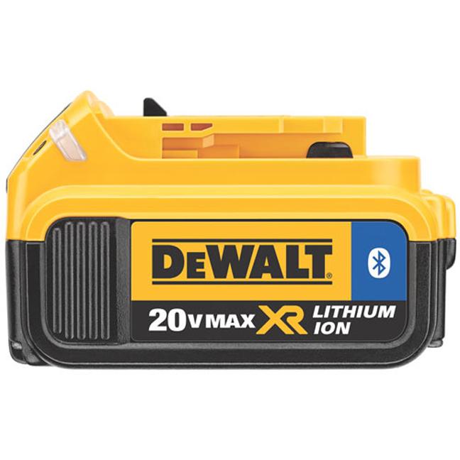 Dewalt Dcb204bt 20v Max Xr 4 0ah Li Ion Battery With Bluetooth