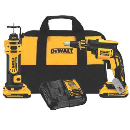 DeWalt DCK263D2 20V MAX Brushless Drywall Screwgun & Cut-Out Tool Combo Kit