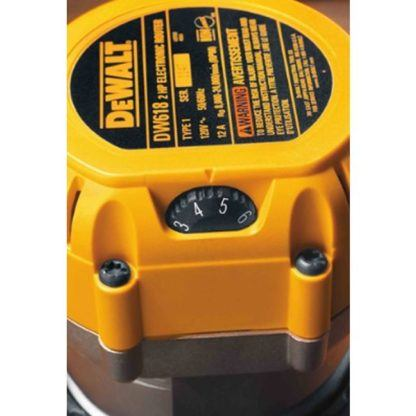 DeWalt DW618 EVS Fixed Base Router with Soft Start 6