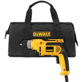 "DeWalt DWD110K 3/8"" VSR Pistol Grip Drill Kit with Keyless Chuck"