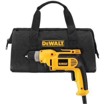 """DeWalt DWD110K 3/8"""" VSR Pistol Grip Drill Kit with Keyless Chuck"""