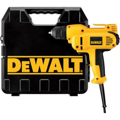 """DeWalt DWD115K 3/8"""" VSR Mid-handle Drill Kit with Keyless Chuck"""