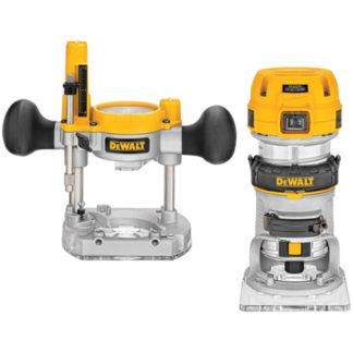 DeWalt DWP611PK 1-1/4 HP Max Torque Variable Speed Compact Router Combo Kit with LED's