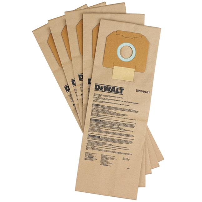DeWalt DWV9401 Paper Bag (5 Pack) for DEWALT Dust Extractors
