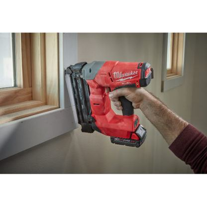 Milwaukee 2740-21CT M18 FUEL 18ga Brad Nailer Kit In Use 1