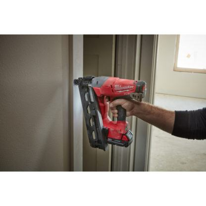 Milwaukee 2742-21CT M18 FUEL 16ga Angled Finish Nailer In Use