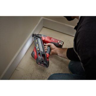 Milwaukee 2743-20 M18 FUEL 15ga Finish Nailer In Use 2