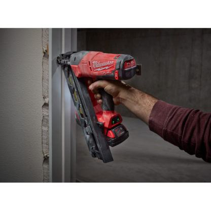 Milwaukee 2743-21CT M18 FUEL 15ga Finish Nailer Kit In Use 1