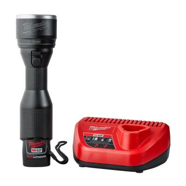 Milwaukee 2355 21 M12 Led Metal Flashlight Kit Bc Fasteners