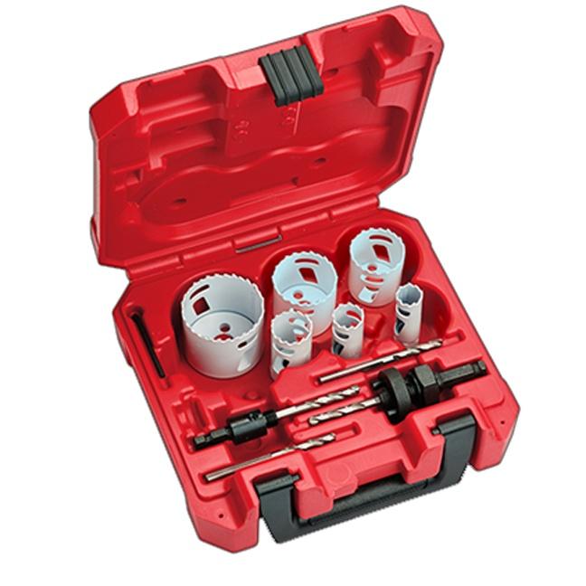 Milwaukee 49-22-4145 10pc Plumbers Hole Dozer Hole Saw Kit