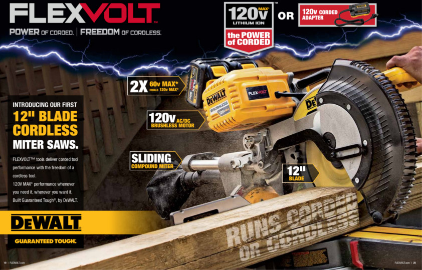 New FlexVolt by Dewalt