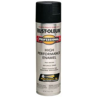 Rust-Oleum 239107 Professional Spray Paint - Semi-Gloss Black