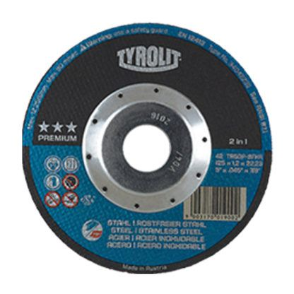Tyrolit 34042238 4.5X.045X7/8 Depressed Center Cut-Off Wheel ST/SS