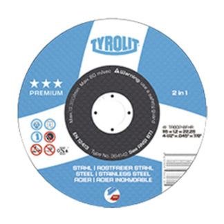 Tyrolit 384142 4.5X.045X7/8 Flat Center Cut-Off Wheel ST/SS