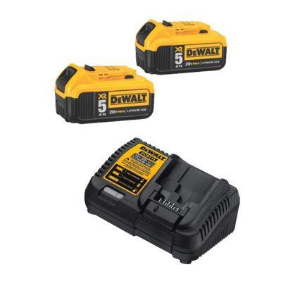 DeWalt DCB205-2 20V MAX 5.0Ah Premium XR Battery 2-Pack w/ Charger