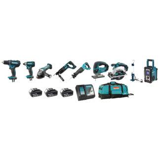 Makita DLX9001 18V 9-Piece Cordless Combo Kit