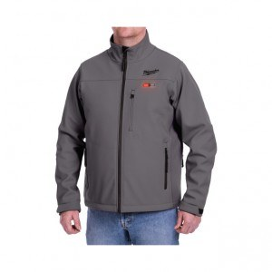 Milwaukee 201G-20 M12 Heated Jacket Gray On Body