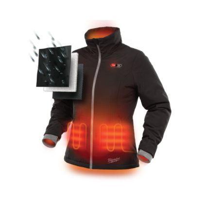Milwaukee 231B-21 M12 Heated Women's Jacket Black Front