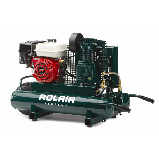 Rolair 4090HK17 5 5HP Portable Gas Belt Drive Compressor