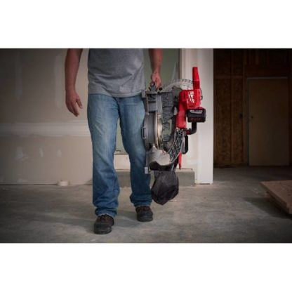Milwaukee 2734-21HD M18 FUEL Dual Bevel Sliding Compound Miter Saw Kit In Use 5
