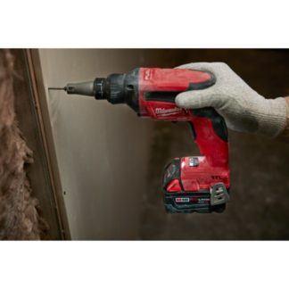 Milwaukee 2866-20 M18 FUEL Drywall Screw Gun In Use 1